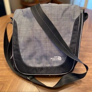 The North Face Black and plaid nylon crossbody bag